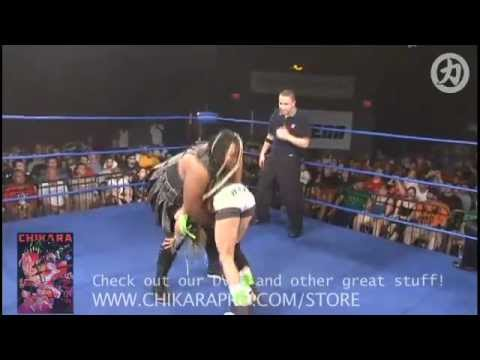 CHIKARA: Amazing Kong (Kharma) &amp; Raisha Saeed vs. Sara Del Rey &amp; Daizee Haze [PCAGG 251]