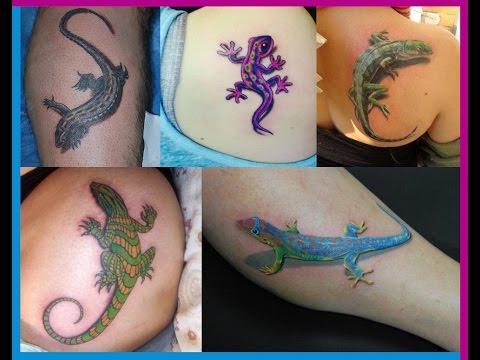 Los Mejores Tatuajes De Lagartijas y Geckos