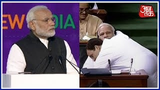 PM Modi Mocks Rahul Gandhi's Bear Hug Yet Again In UP Rally | Breaking News - AAJTAKTV
