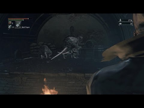 Bloodborne PS4 Gameplay: Rats having Sex?