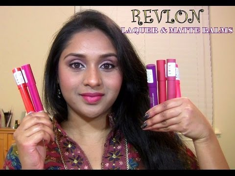 Revlon Laquer Balms and Matte Balm Review & Swatches