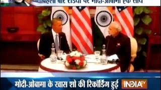 Obama to accompany PM Modi in 'Man ki Baat' t - INDIATV