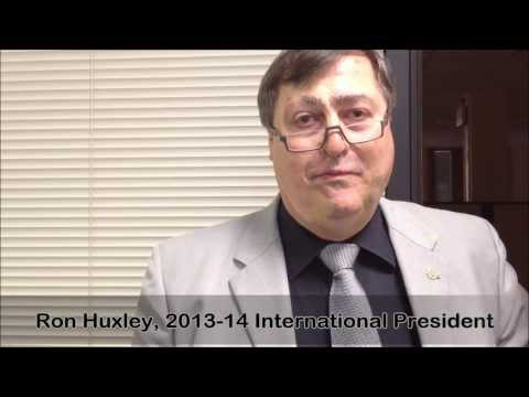 Optimist International President Ron Huxley-March 2014