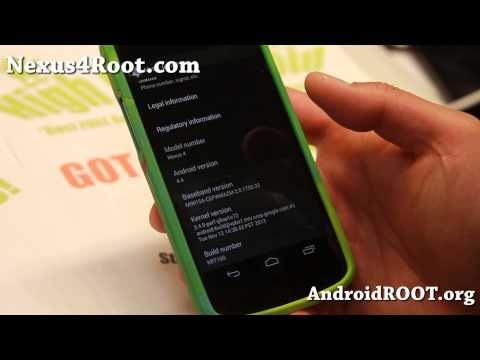 Android 4.4 Stock ROM KRT16S with Root for Nexus 4!
