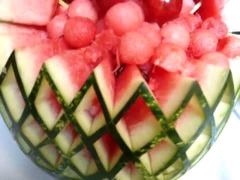 decoraciones centros de mesa en tallado de frutas y vegetales