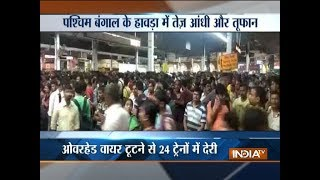 West Bengal: Eight killed in Kolkata storm, rail, road, air traffic disrupted - INDIATV