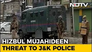 """""""Resign Or Die"""": Hizbul's Video Threat To Jammu And Kashmir Security Men - NDTV"""