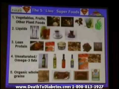 Reverse &amp; Cure Type 2 Diabetes Lecture: The 5 Super Foods - Raw Food Diet