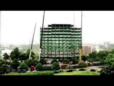 0 بناء فندق 15 طابق في الصين في 90 ساعة فقط