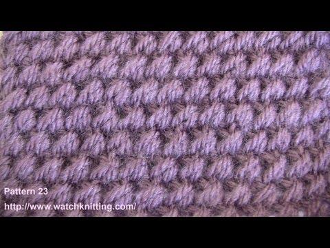 Embossed Knitting Patterns - Free Knitting Tutorials - Watch Knitting- pattern 23 - Raindrops