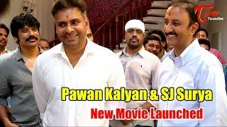 Pawan Kalyan and SJ Surya New Movie Launch - TELUGUONE