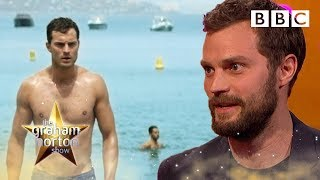 Jamie Dornan struggled to look sexy when walking on a pebble beach  - The Graham Norton Show - BBC