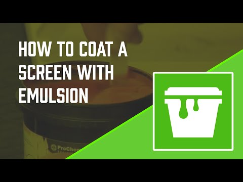 How to coat a screen with emulsion - Screen Printing