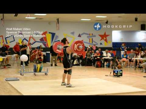 Spencer Moorman (-105kg) 2013 Senior Nationals Attempts