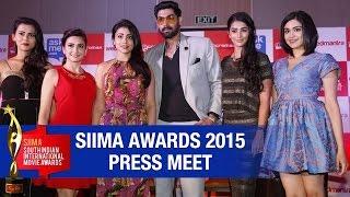 SIIMA Awards 2015 Press Meet | Rana | Shriya | Kriti Kharbanda | Adah Sharma | Pooja Hegde - TELUGUFILMNAGAR