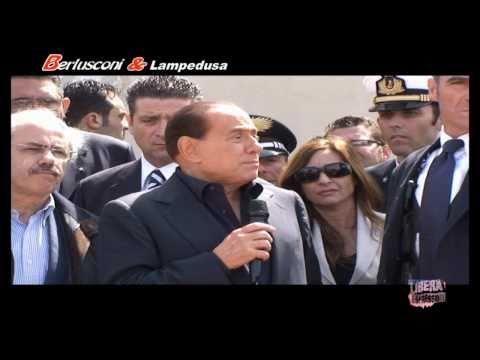 Silvio Berlusconi A Lampedusa
