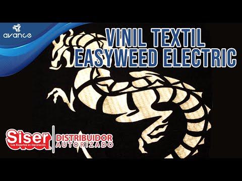 Vinil textil electrico en prendas - Siser Easyweed electric