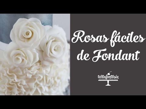 Rosas Rápidas de Fondant. Tarta Plateada 4ª Parte