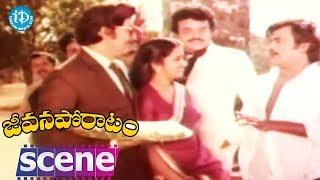 Jeevana Poratam Movie Climax Scene || Rajinikanth || Shobhan Babu || Vijayashanti || Rajachandra - IDREAMMOVIES