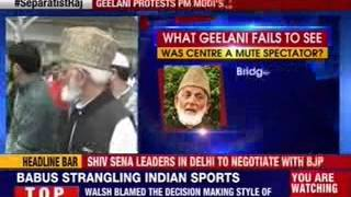 Syed Ali Geelani protests PM Modi's J&K visit - NEWSXLIVE