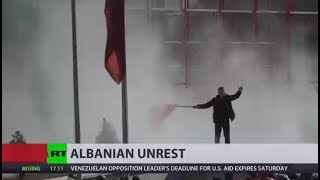 Albania on fire: Thousands rally against alleged govt links to crime in Tirana - RUSSIATODAY