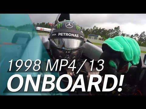 Видео: Нико Росберг прокатился на McLaren-Mercedes MP4-13 сезона-1998