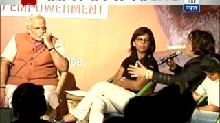 Modi's holds 'Chai Pe Charcha' on women empowerment in New Delhi - ABPNEWSTV