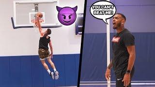 PLAYING 1's AGAINST AN NBA PLAYER 😈 *gets intense* | Jordan Lawley Basketball
