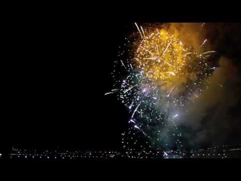 Melbourne's 2012 NYE fireworks in reverse