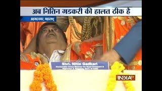 Watch Video: Nitin Gadkari faints during event in Maharashtra's Ahmednagar; condition stable - INDIATV