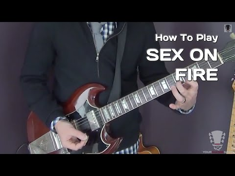 Sex On Fire by Kings Of Leon - Electric Guitar Lesson