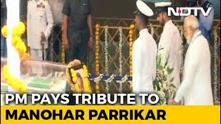 State Funeral For Goa Chief Minister Manohar Parrikar, PM Pays Respects - NDTV