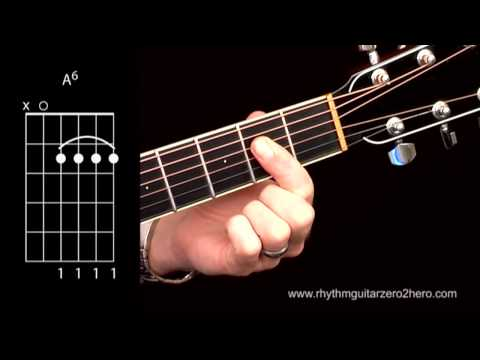Learn Guitar Chords: A 6 - Beginner Acoustic Guitar Lessons