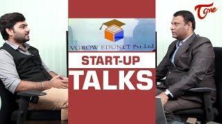 VGROW EDUNET Pvt  Ltd Founder Ramchandra Success Story | START  UP TALKS - TELUGUONE