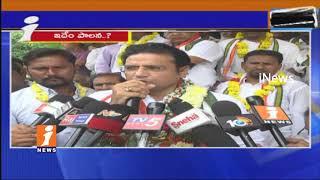 Congress Leader Sridhar Babu Hunger Strike 6th Day In karimnagar   Dalit Attacks Issues   iNew - INEWS