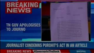 TN Governor apologises to journalist; NewsX accesses TN Governor apology letter - NEWSXLIVE