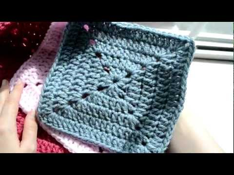 Crochet Lessons  - How to work the solid granny square - Part 1