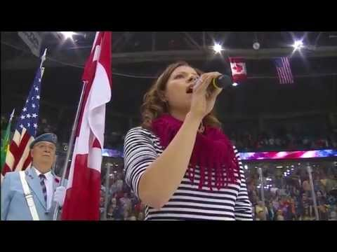 2013 Memorial Cup American National Anthem Screw Up - Halifax vs Portland - HD