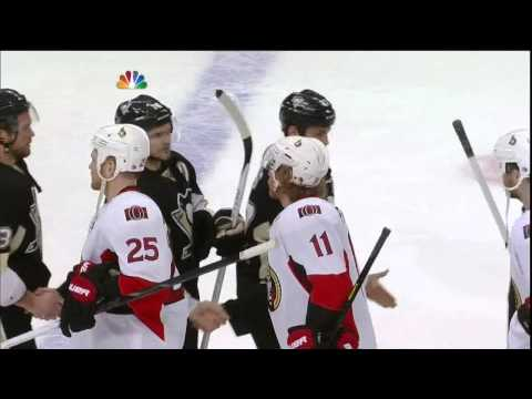 Last min of game, handshakes, Crosby interview May 24 2013 Ottawa Senators vs Pittsburgh Penguins