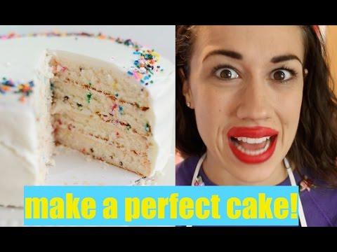 HOW TO MAKE A PERFECT CAKE