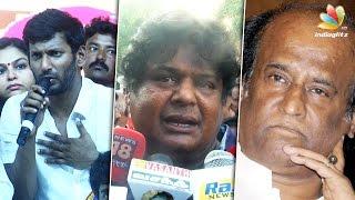 Rajinikanth too busy to attend Common Meet : Mansoor Ali Khan Nadigar Sangam Speech