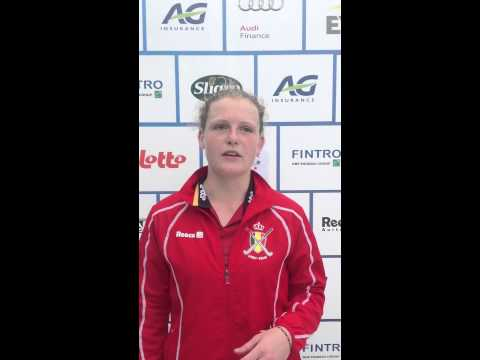 Fintro EuroHockey Junior Championships 2014 Day 2 - Post match interview BEL-CZE 5-1 Emma Puvrez