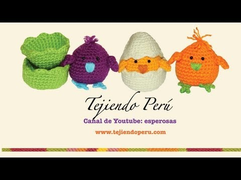 Pollitos tejidos en crochet (amigurumi) Parte 1