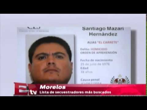Lista de los secuentradores mas buscados de Morelos  /Excelsior en la media