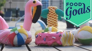 How to Make Pool Float Doughnuts   Food Network - FOODNETWORKTV