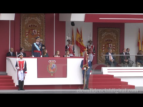 Así vivió la princesa Leonor su primer desfile de la Fiesta Nacional 12-O 2014