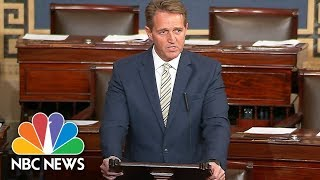 Senator Jeff Flake Slams President Donald Trump's News Media Attacks | NBC News - NBCNEWS