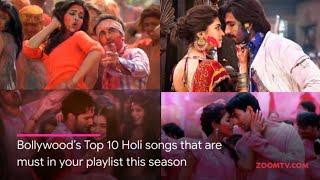 Bollywood's Top 10 Holi Songs | Holi 2019 Special | Zoom Holi Fest - ZOOMDEKHO