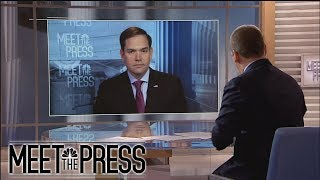 Full Rubio Interview: On McCabe, 'I don't like the way it happened' | Meet The Press | NBC News - NBCNEWS