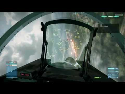Battlefield 3 Jet + missiles gameplay